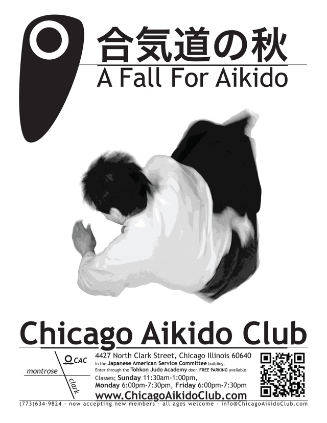 A Fall for Aikido poster Chicago Aikido Club