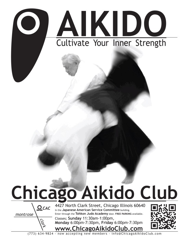 Chicago Aikido Club fall poster 2012