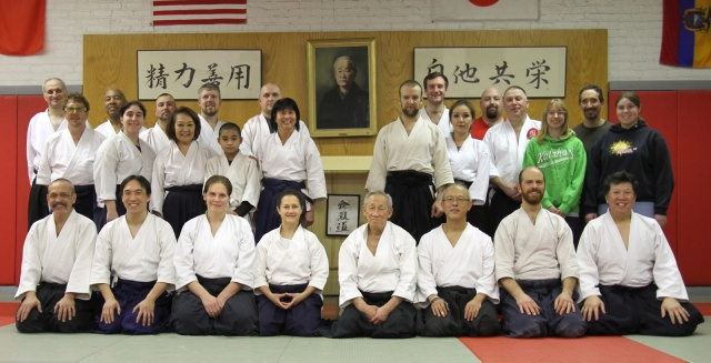Chicago Aikido Club with Jo Takehara & Marsha Turner Sensei