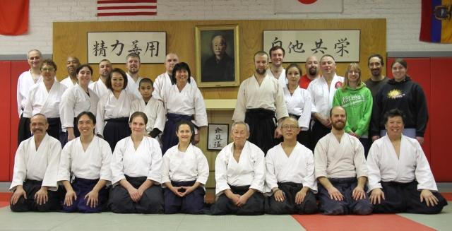 Chicago Aikido Club with Jo Takehara & Marsha Turner Sensei