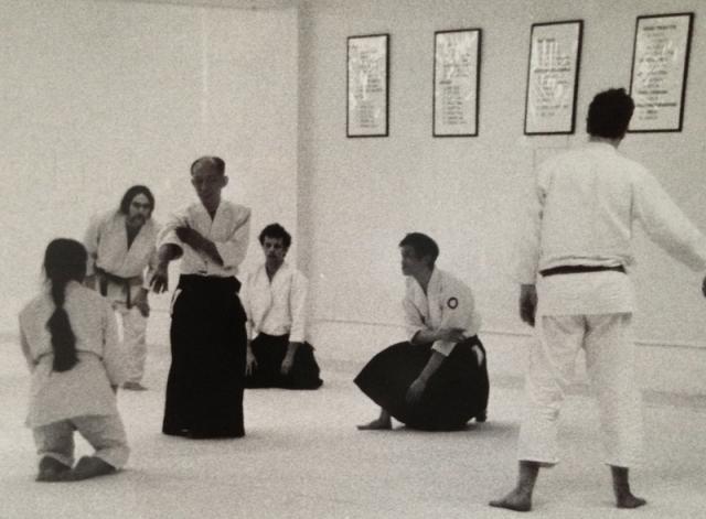 Jo Takehara with Aikido Doshu Kisshomaru Ueshiba