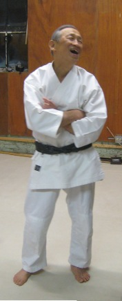 2008-takehara-sensei-laughing-in-old-aikikai